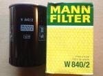 Фильтр масляный MANN W840/2 (ЗМЗ-51432, 514; h=139 mm)